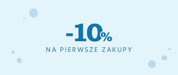 10% rabatu na pierwsze zamówienie