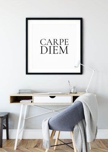 Carpe Diem - motywacyjne plakaty czarno białe