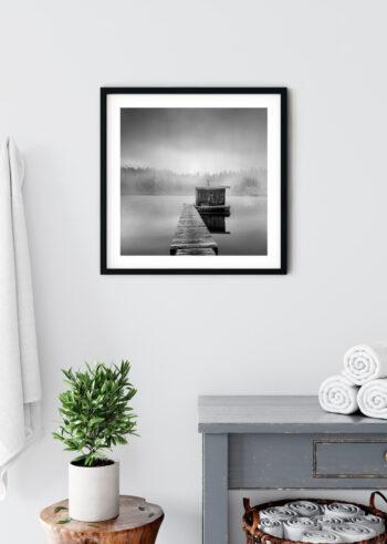Czarno białe plakaty: Drewniana Chatka