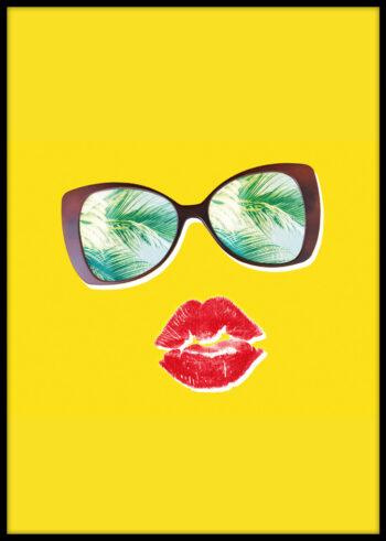 Plakaty do salonu z czerwonymi ustami