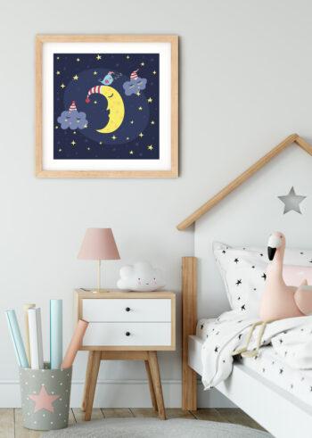 Plakat do dziecięcego pokoju - Dobranoc