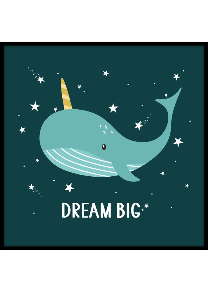 Plakat do pokoju dziecka: - Dream Big