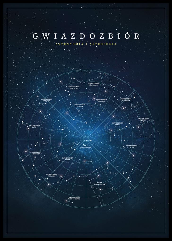 Plakat do salonu przedstawiający gwiazdozbiór