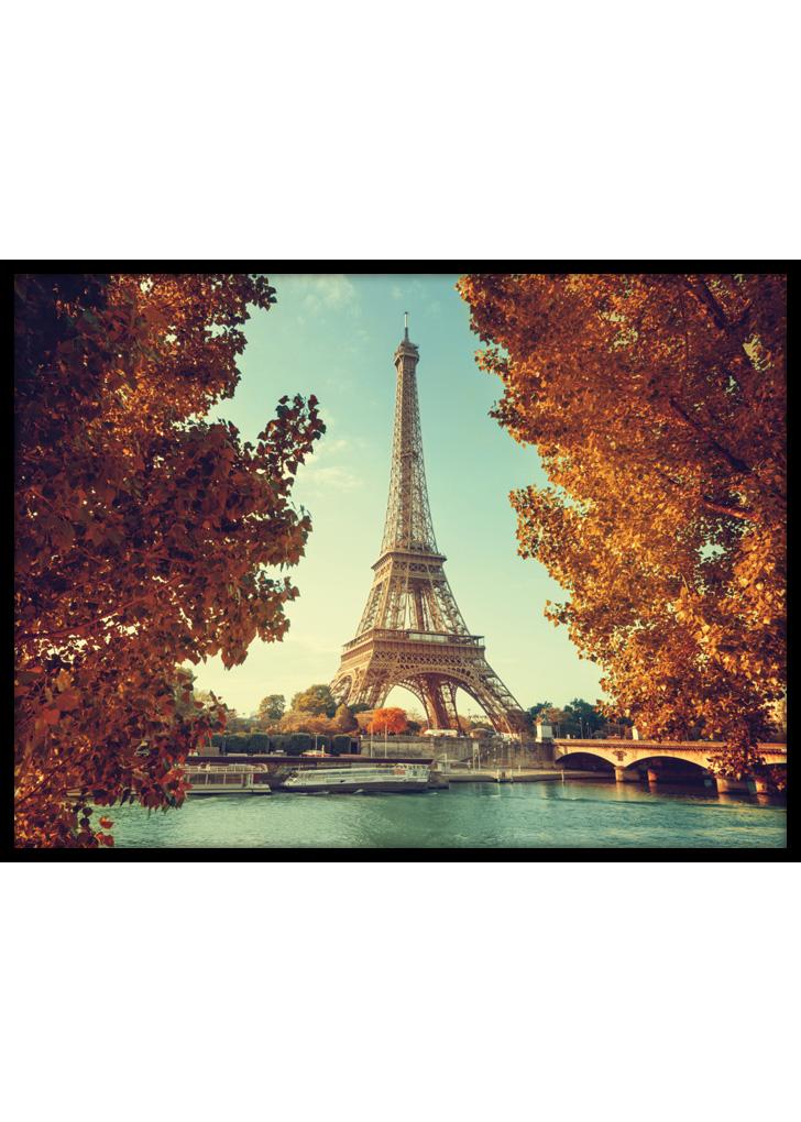 Plakat do sypialni przedstawiający Paryż podczas jesieni