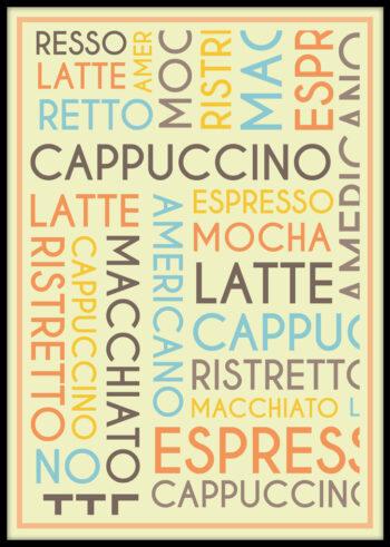 Plakat z napisem: Kawa
