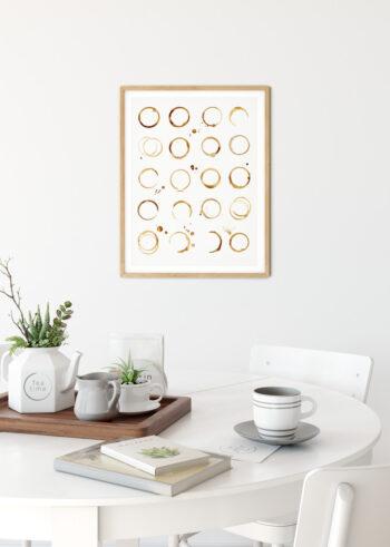 Plakat kuchenny - Kawowe Plamy