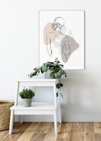 Plakaty do salonu - postać kobiety