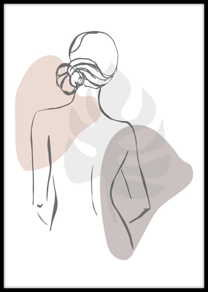 Plakat do sypialni z ilustracją kobiety