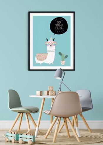 No Drama Lama - plakaty do pokoju dziecka