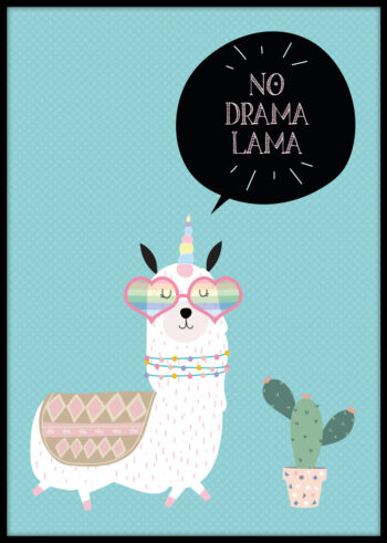 No Drama Lama - plakat dla dziecka
