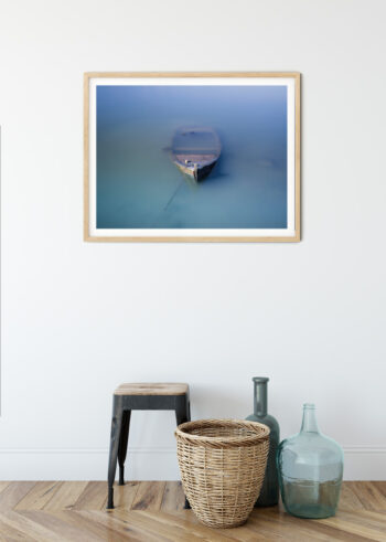 Łódka we Mgle - plakat do salonu