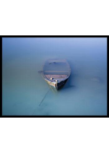 Plakat do salonu: Łódka we Mgle