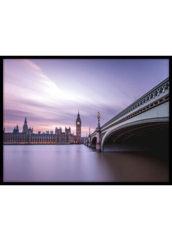 Plakat do salonu przedstawiający Londyn, a dokładnie Most Westminster