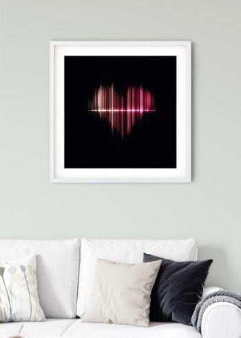 Plakat do salonu przedstawiający miłość do muzyki