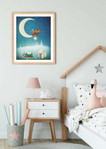 Plakat do pokoju dziecięcego - Magiczna Noc