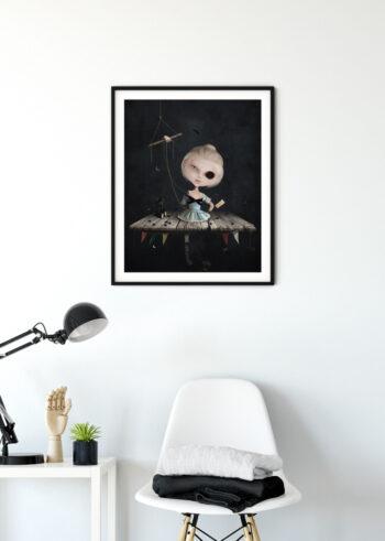 Plakat do salonu przedstawiający marionetkę