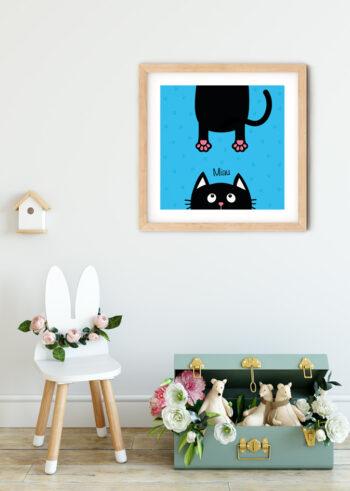 Plakat do pokoju dziecka - Miau