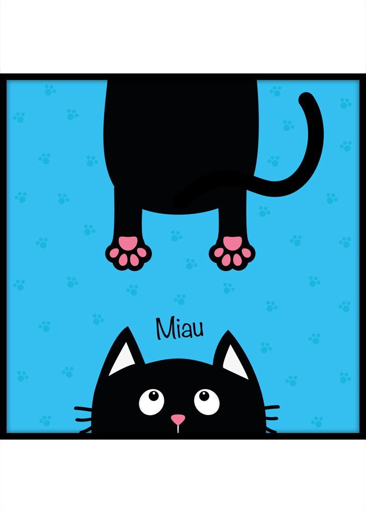 Miau - plakat dla dziecka