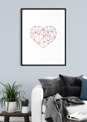 Miłość, Serce - plakat do salonu