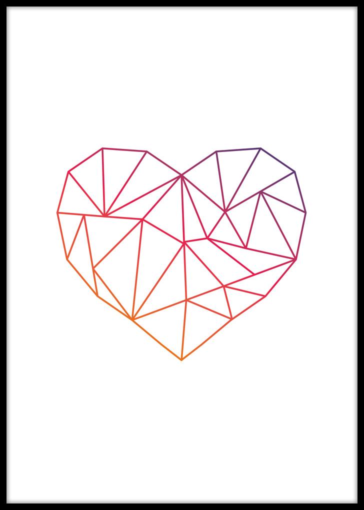 Plakat do salonu z sercem