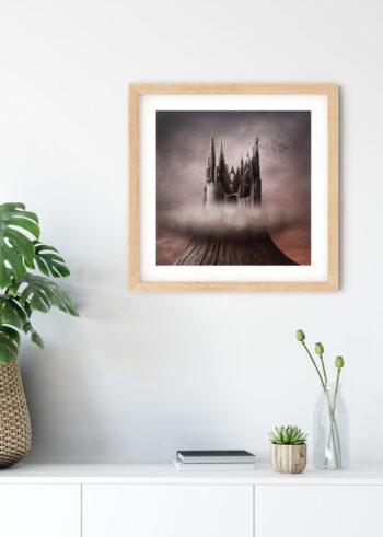Mroczny Zamek na plakacie do salonu