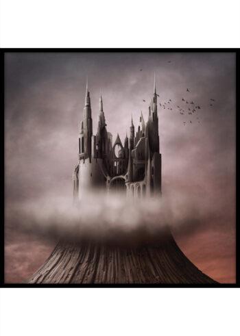 Plakat do salonu przedstawiający Mroczny Zamek