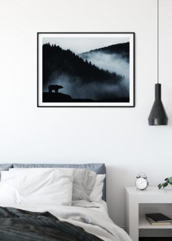 Plakat do salonu na ścianę - niedźwiedź