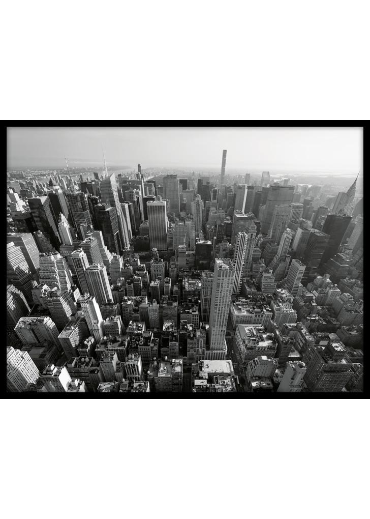Plakat do salonu: Nowy Jork z Lotu Ptaka