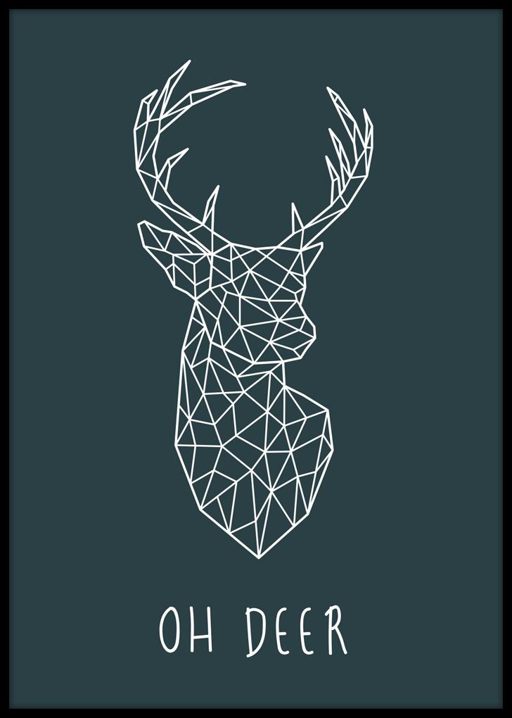Plakat do salonu na ścianę - Oh Deer