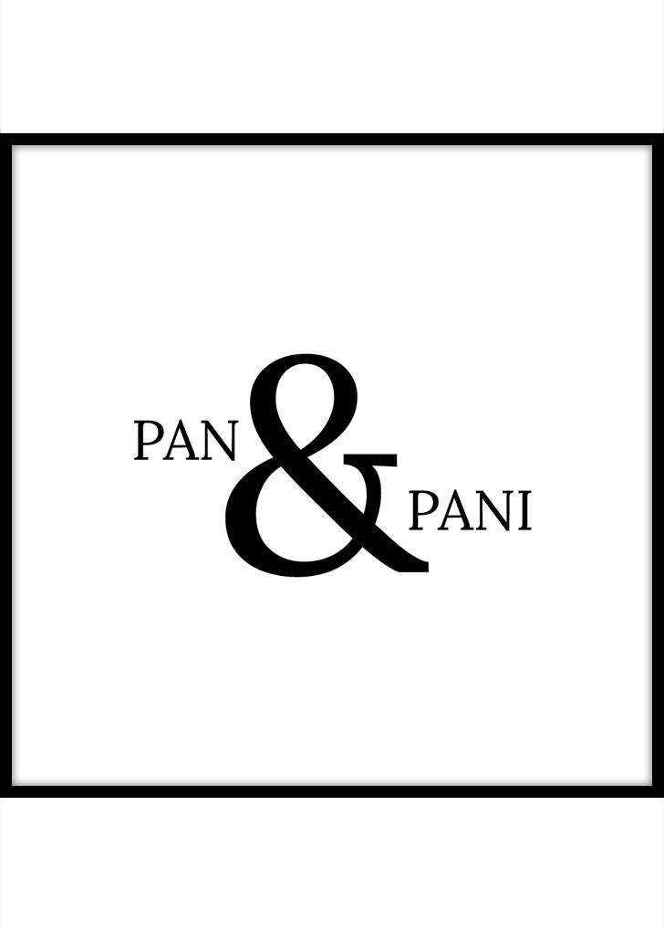 Plakat z napisem: Pan i Pani