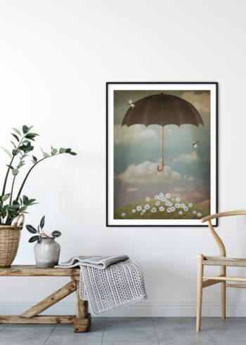 Plakat do salonu - Latający Parasol