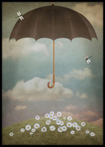 Latający Parasol - plakat do salonu