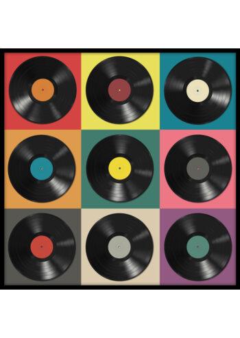Płyty Winylowe Pop Art - plakaty do salonu