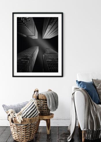 Sky Is The Limit - plakaty czarno białe