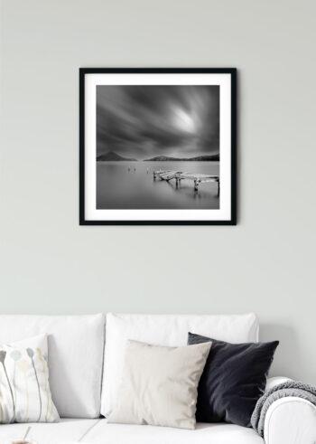 Czarno biały plakat do sypialni - Stary Pomost
