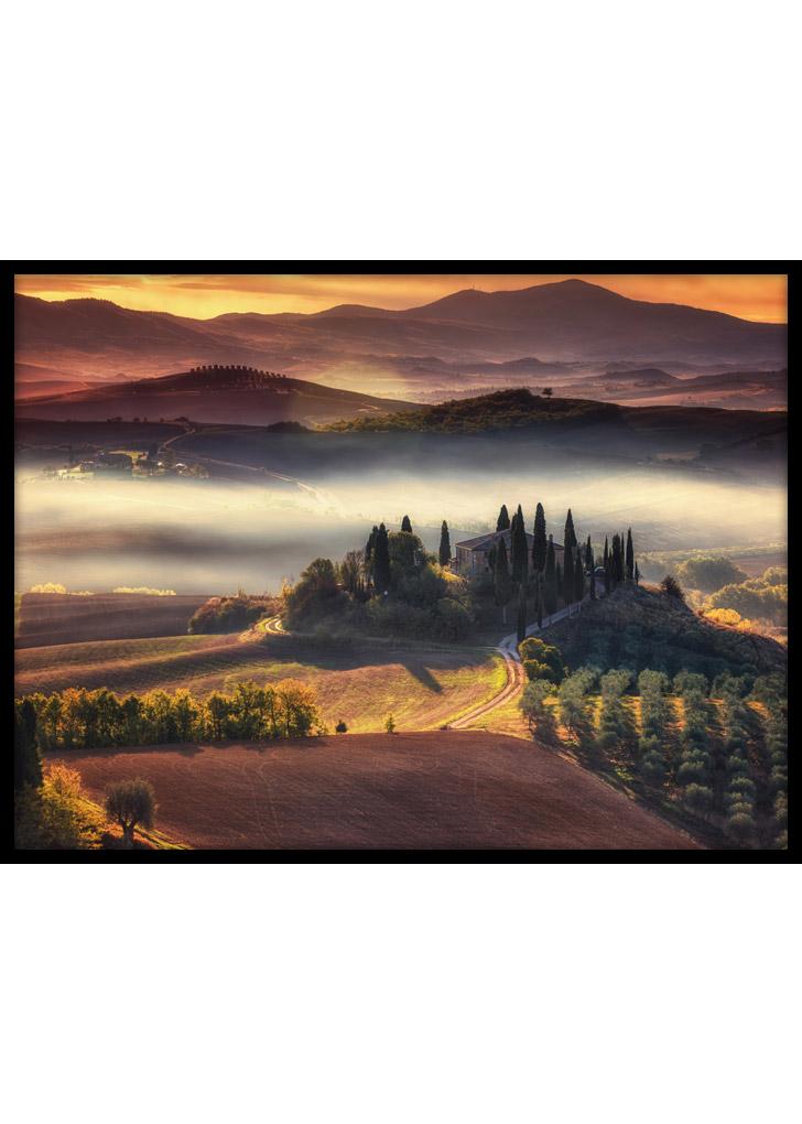 Toskania Włochy - plakat do sypialni
