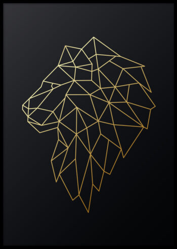 Złoty Król - plakat do salonu na ścianę