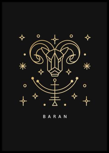 Plakaty do sypialni ze znakami zodiaku - Baran