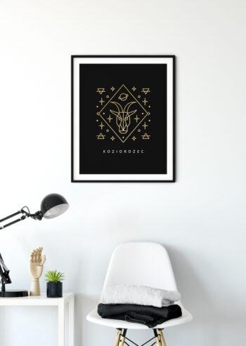 Plakaty do salonu na ścianę - znak zodiaku Koziorożec