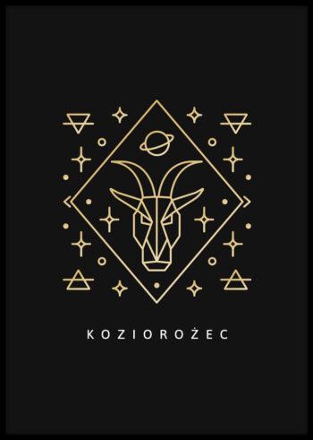 Plakat do sypialni na ścianę - znak zodiaku koziorozec