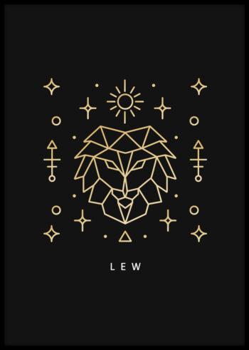 Lew - znak zodiaku. Plakaty do sypialni