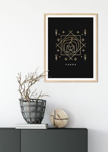 Plakat do salonu na ścianę - znak zodiaku Panna