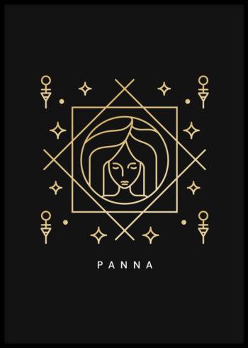 Plakat do sypialni: Panna - znak zodiaku