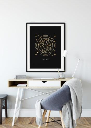 Plakat do salonu - Ryby znak zodiaku