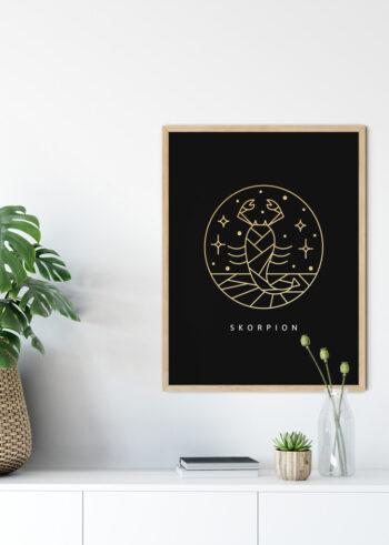 Plakat do salonu - znak zodiaku skorpion