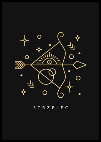 Znak zodiaku strzelec - plakat do sypialni