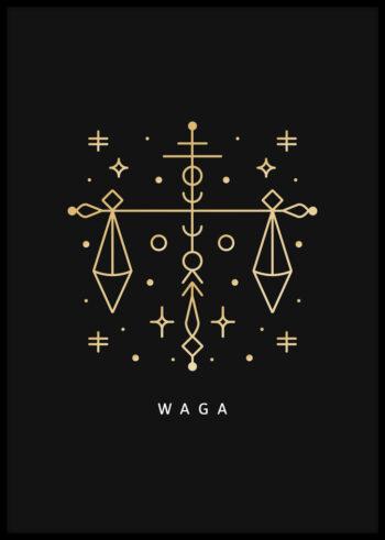 Znak zodiaku waga - plakaty do sypialni