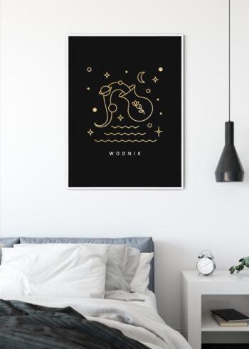 Znak zodiaku Wodnik - plakaty do salonu
